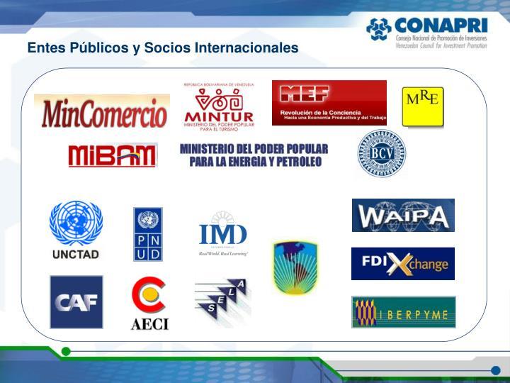Entes Públicos y Socios Internacionales