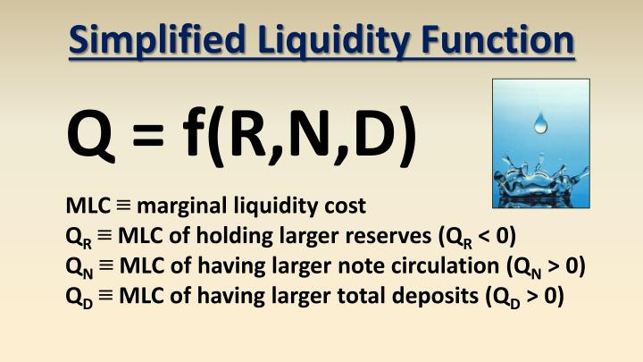 Simplified Liquidity Function