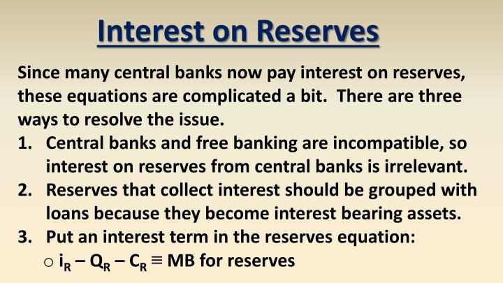 Interest on Reserves