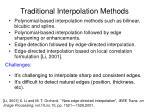 traditional interpolation methods