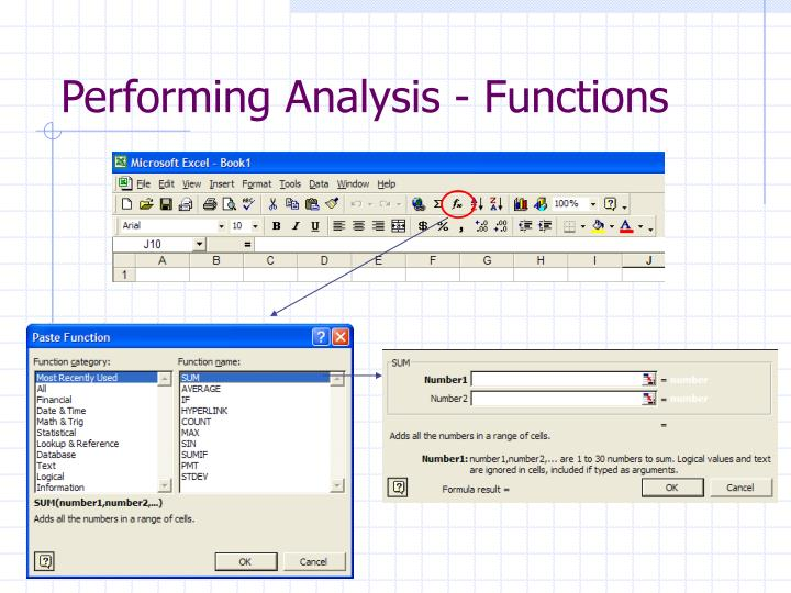Performing Analysis - Functions