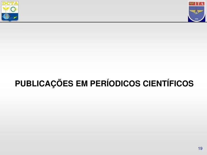 PUBLICAÇÕES EM PERÍODICOS CIENTÍFICOS