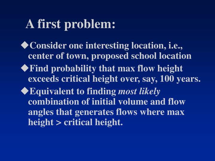 A first problem: