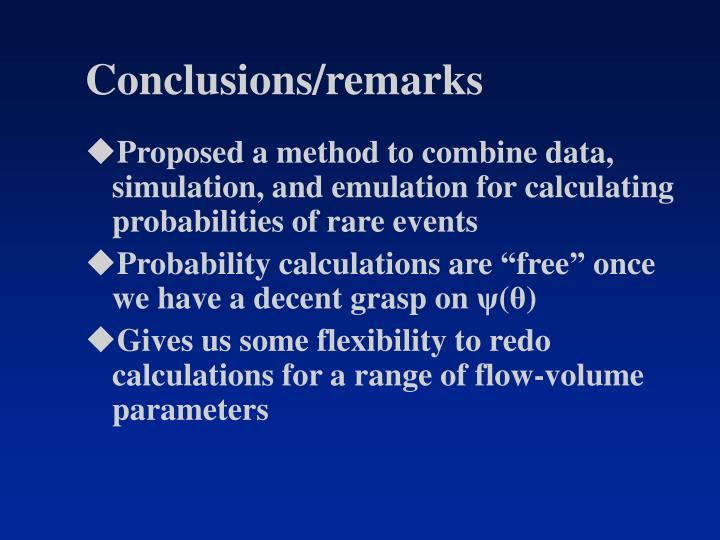 Conclusions/remarks