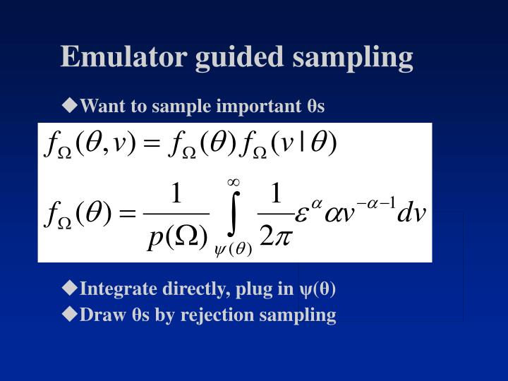 Emulator guided sampling