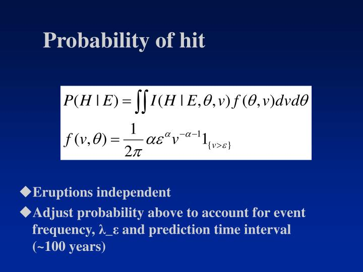 Probability of hit