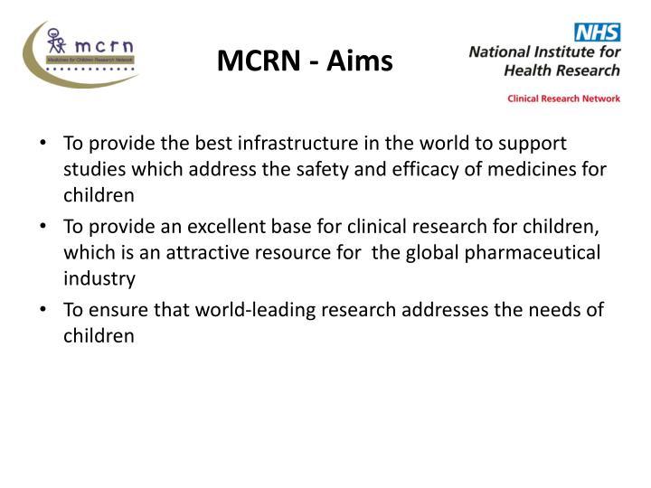 MCRN - Aims