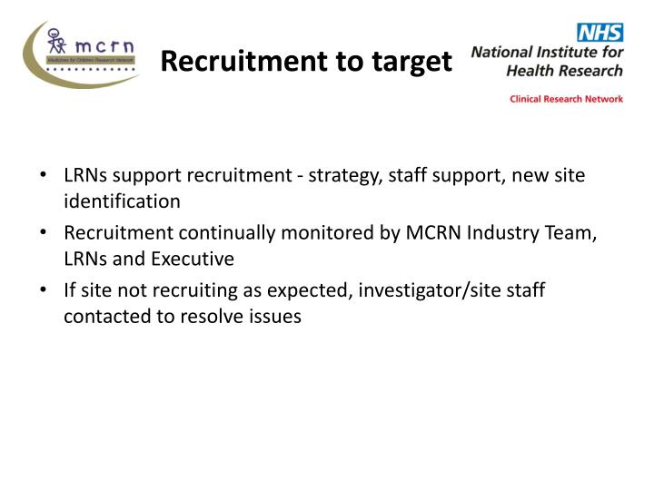 Recruitment to target
