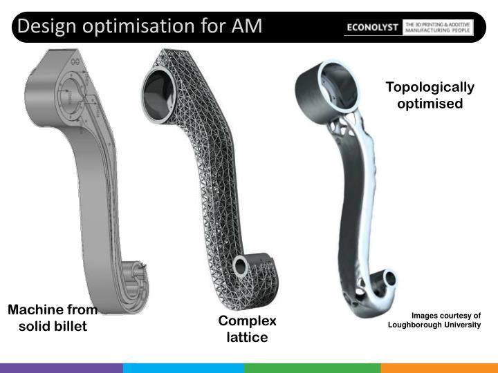 Design optimisation for AM