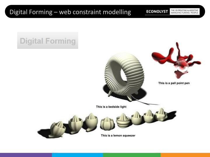 Digital Forming – web constraint modelling