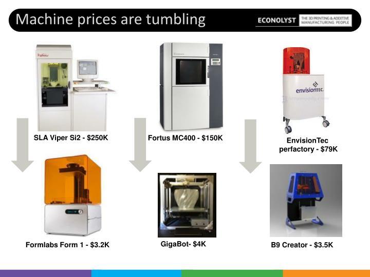 Machine prices are tumbling