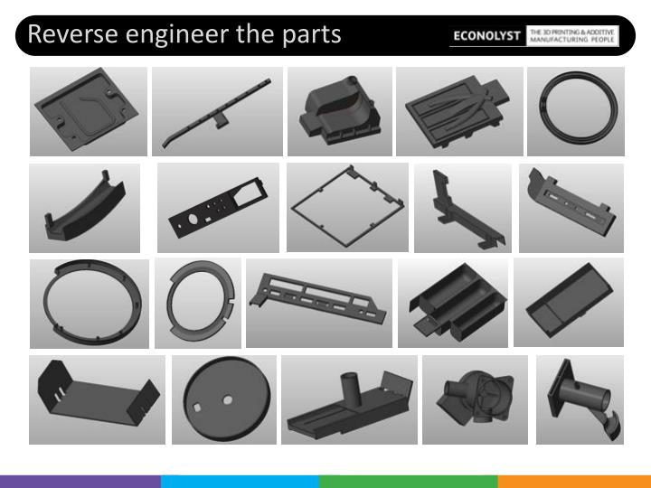 Reverse engineer the parts
