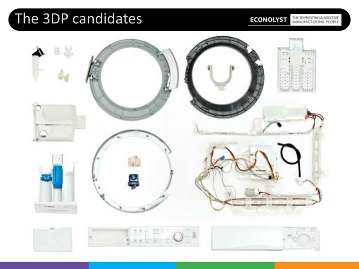 The 3DP candidates