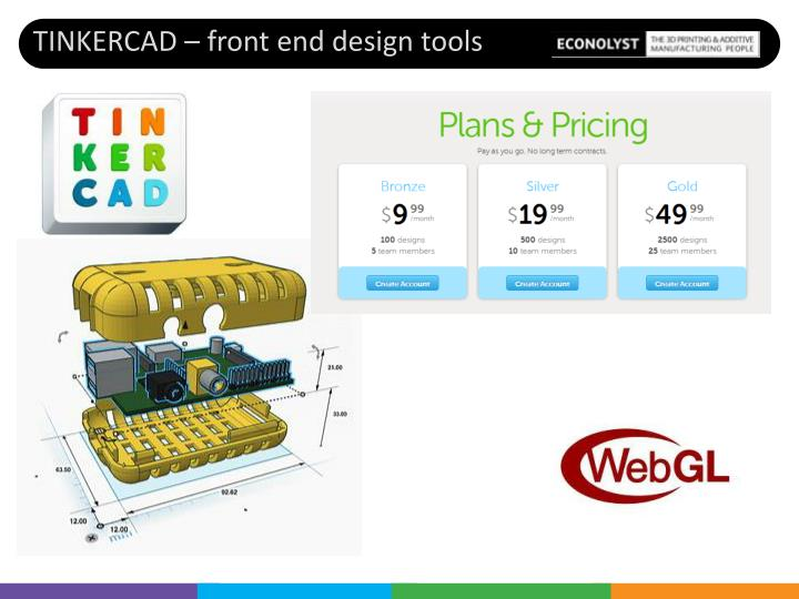TINKERCAD – front end design tools