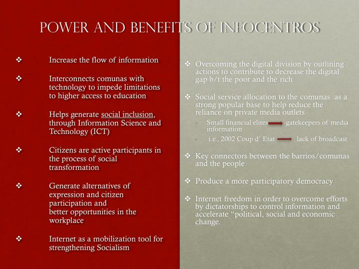 Power and benefits