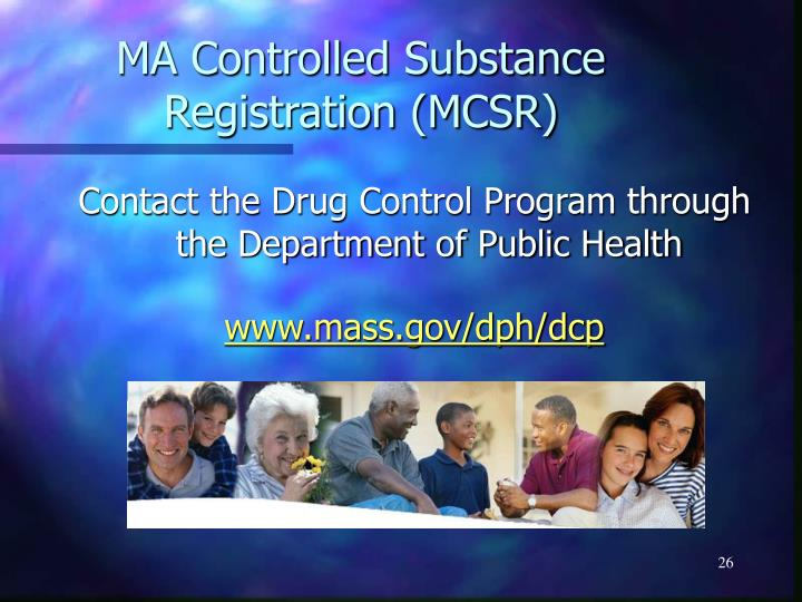 MA Controlled Substance Registration (MCSR)