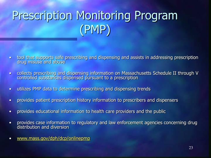 Prescription Monitoring Program (PMP)