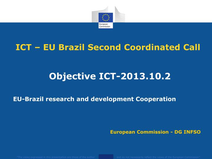 ict eu brazil second coordinated call n.