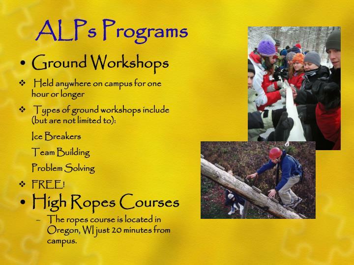 ALPs Programs