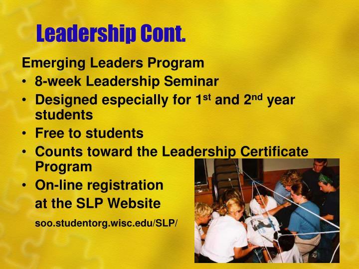 Leadership Cont.