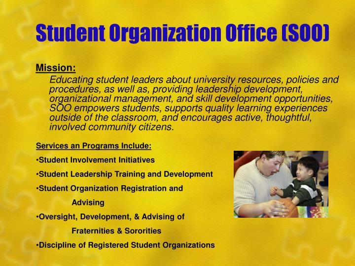 Student organization office soo