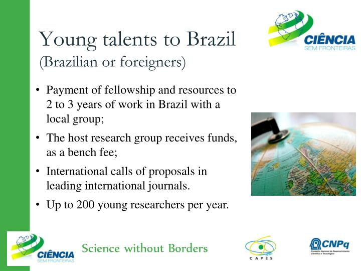 Young talents to Brazil