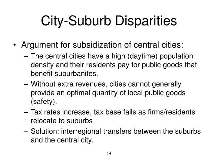 City-Suburb Disparities
