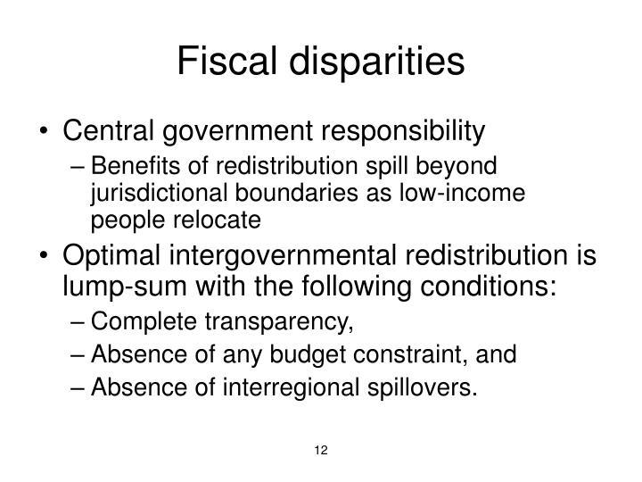 Fiscal disparities