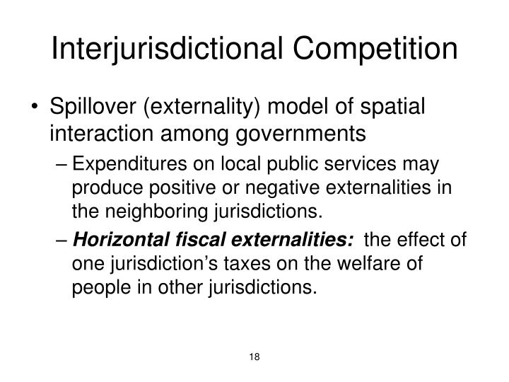 Interjurisdictional Competition