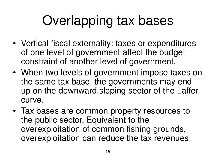 Overlapping tax bases
