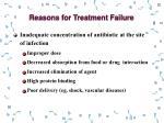 reasons for treatment failure1