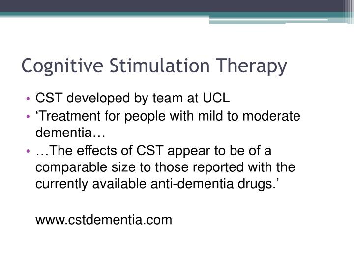 Cognitive stimulation therapy1
