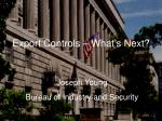 export controls what s next