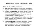 reflections from a former chair