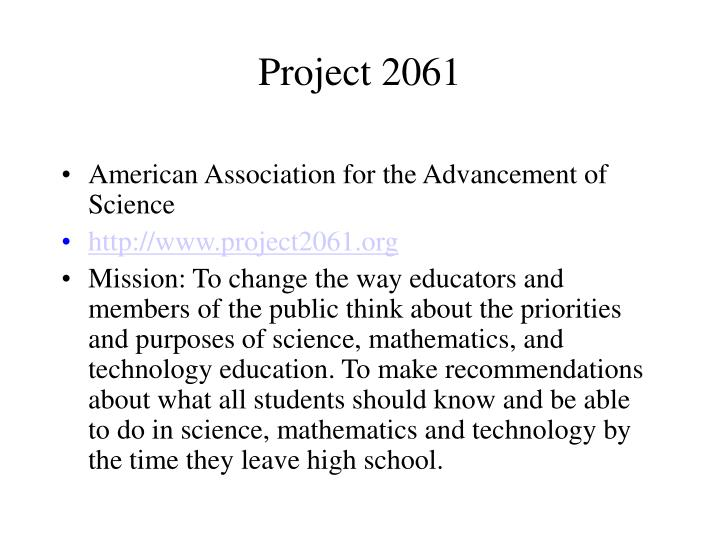 Project 2061