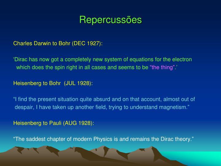 Repercussões