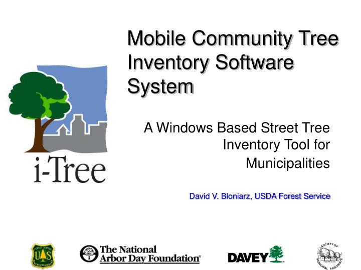 Mobile Community Tree Inventory Software System