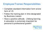 employee trainee responsibilities
