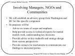 involving managers ngos and communities