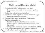 multi period decision model