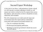 second expert workshop