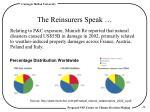 the reinsurers speak