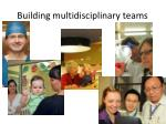 building multidisciplinary teams