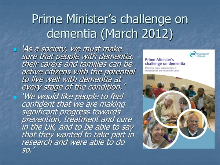 Prime Minister's challenge