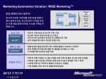 marketing automation solution wise marketing
