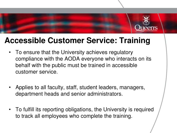 Accessible Customer Service: Training