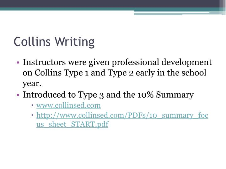Collins Writing