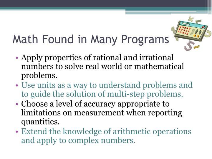 Math Found in