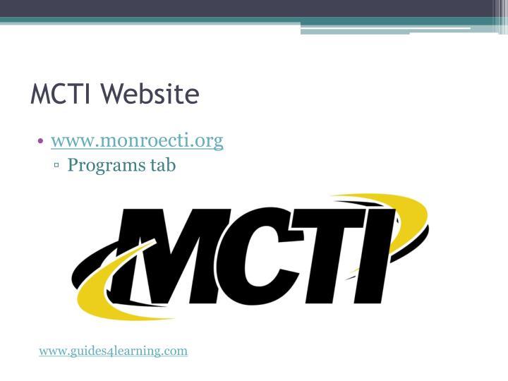 MCTI Website