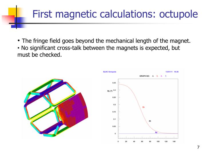 First magnetic calculations: octupole